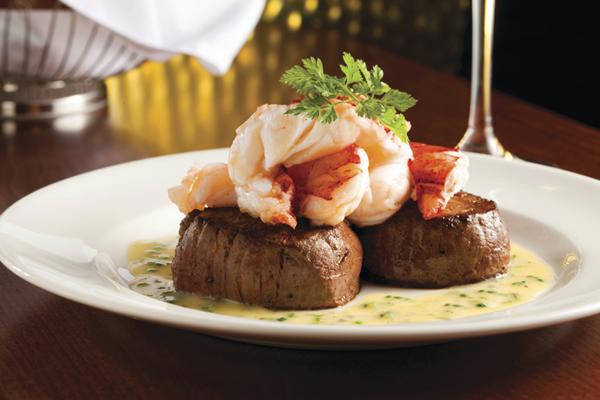 Capital Grill tenderloin poached lobster