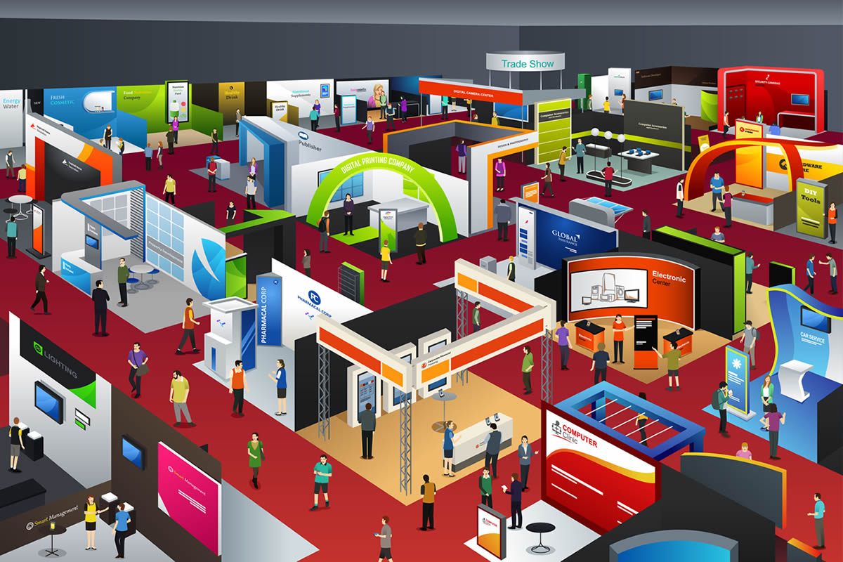 image of trade show floor